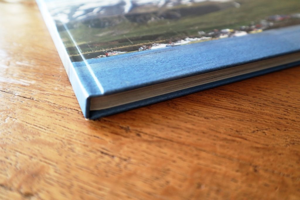 Detailansicht Hardcover Fotobuch Kante