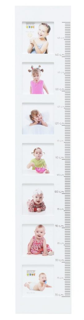 Wachstumsmesser weiss mit Kinderbildern