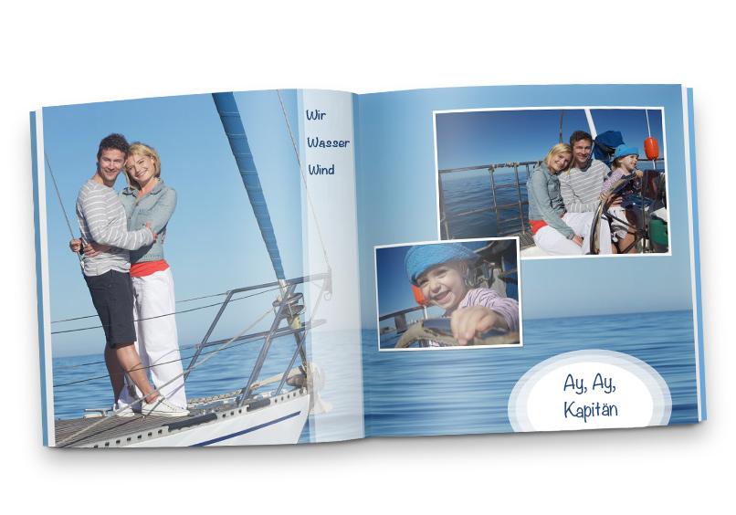 Beispiel Fotobuch klein mit Segelfotos