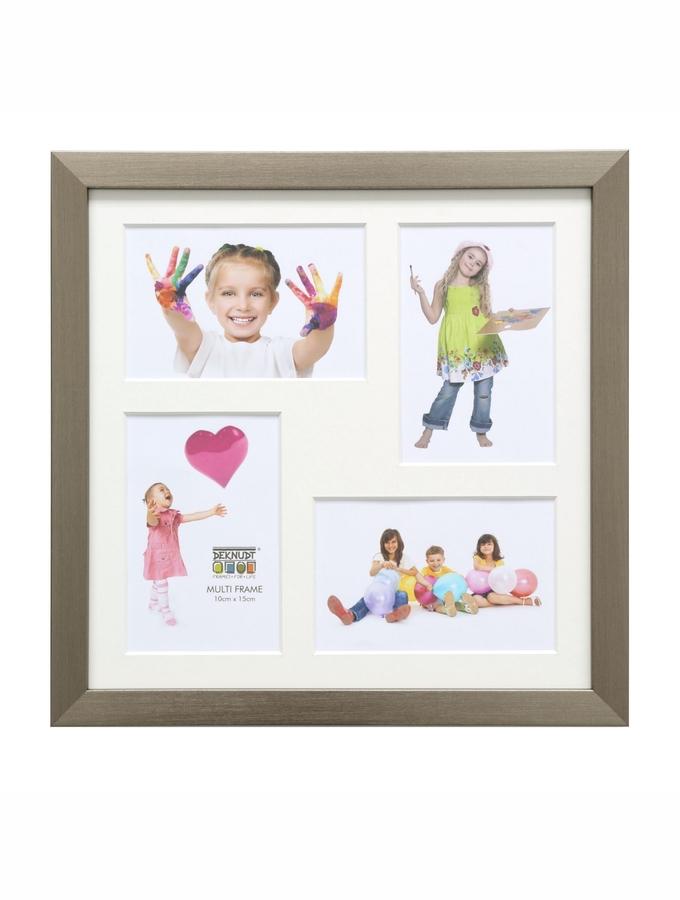 Rahmen mit vier Bildern von Kindern