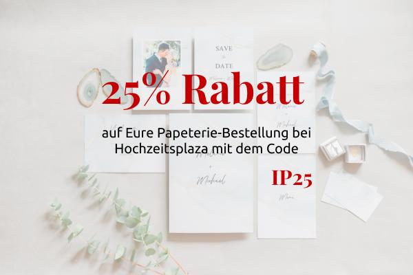 25% Rabatt für Papeterie