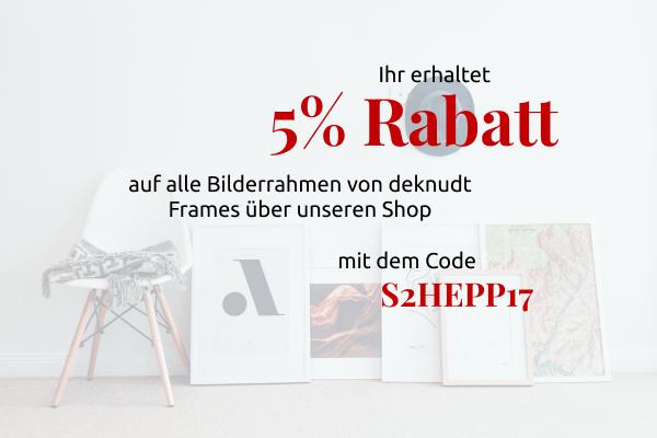 5% Rabatt auf Bilderrahmen