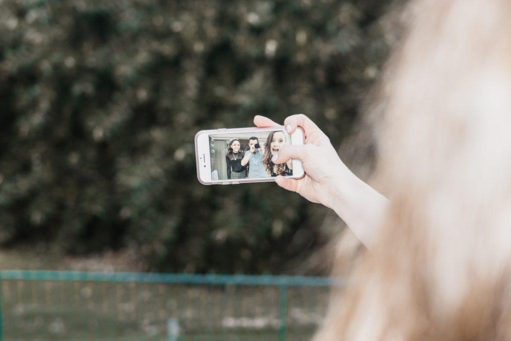 Selfie von drei Personen