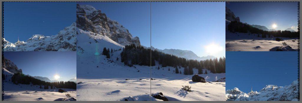 Doppelseite Fotobuch mit jeweils doppelten Bildern