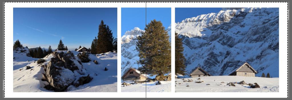 Bilderkennung Buchvorschlag mit Bildern, auf denen Hütten zu sehen sind