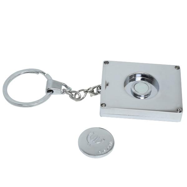 Schlüsselanhänger mit integriertem Einkaufswagen-Chip