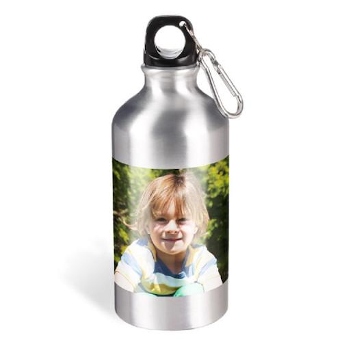 Metall-Trinkflasche mit Karabiner